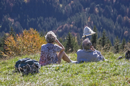 After a strenuous climb you can enjoy a rest on the mountain meadow