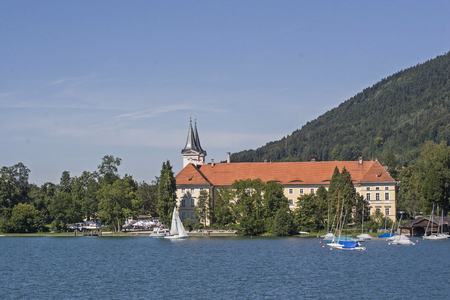The monastery Tegernsee located on the lake of the same name is known among other things because of the brewed beer here