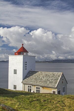 The old lighthouse of Agdenes shows the ships the way to the important port of Trondheim.