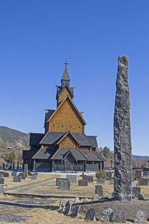 The stave church Heddal is the largest of its kind in Norway with a height of about 26 meters