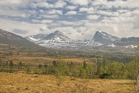 The Vaksvikfjellet is a popular hiking paradise in the summer and is visited in winter by countless ski tourists 版權商用圖片
