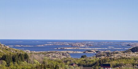 View of the archipelago coast near Austatfjord on the island of Vikna Banco de Imagens
