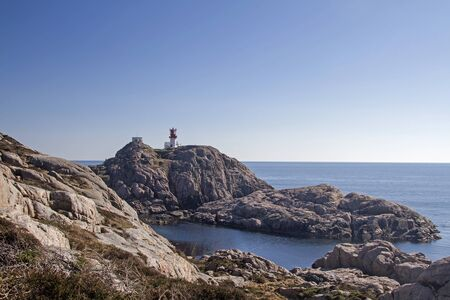 The lighthouse of Lindesnes is the oldest and southernmost lighthouse in Norway