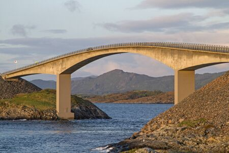 The Atlantic Road along the Norwegian west coast is one of the most interesting and popular transport connections  in Europe