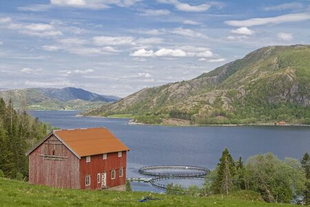 Norwegian aquaculture is often based on net cages in the open sea or in bays and is mainly used for breeding salmon
