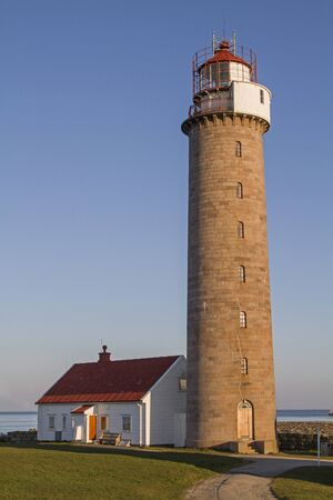 The 28 m high lighthouse Lista Fyr is the landmark of the small peninsula Lista in the south of Norway.