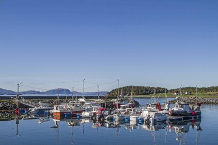 Idyllic fishing port on the north shore of Foldafjord in North Trondelag Reklamní fotografie
