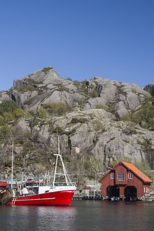The small fishing port Rekefjord at Hauge is idyllically situated on the Norwegian North Sea coast