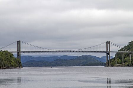 The bridge over the Namsenfjord connects the mainland and Otteroya Island