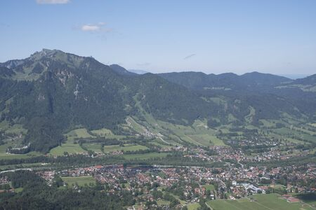 iew of the southern isarwinkel with the tourist resort Lenggries - in the background the Brauneck Reklamní fotografie