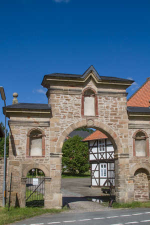 Entrance gate to the Wöltingerode monastery near Goslar Redakční