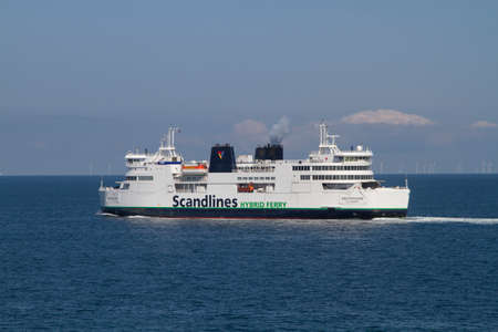 The Scandlines ferry company gradually upgraded its ferries to hybrid drives Reklamní fotografie