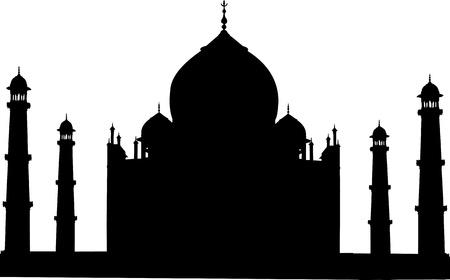 persian art: Taj Mahal silhouette
