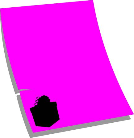 similar images: Note paper gift, pink color, one in the series of similar images silhouette  Illustration