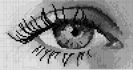 シンプル ピクセル、人間の目  イラスト・ベクター素材