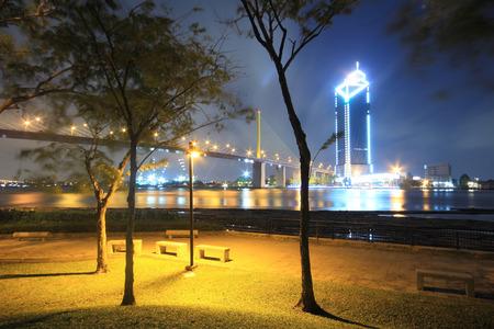 Rama 9 bridge in Bangkok, Thailand travel photo