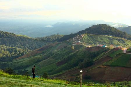 sky mountain travel photo