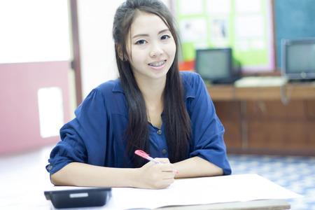 20 24 years: asia thai woman working