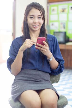 20 24 years: asia thai woman using mobile