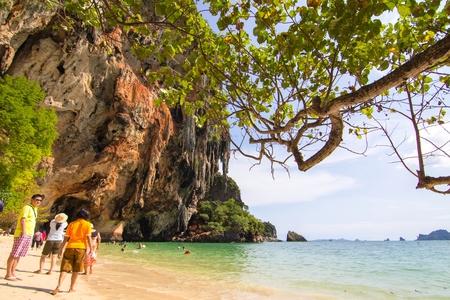 aonang: sky beach AoNang Krabi Thailand Editorial