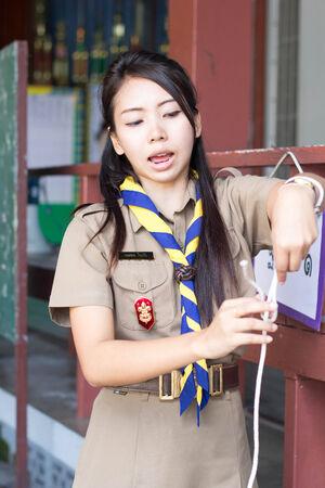 immature: thai teacher girl scouts Stock Photo