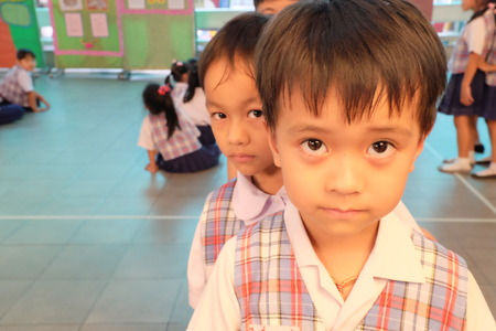 wean: Kindergarten students smiling