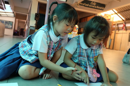 wean: BANGKOK CITY, THAILAND - JAN 2015: In the jan 9, 2015. Bangkok County Kindergarten students are learning