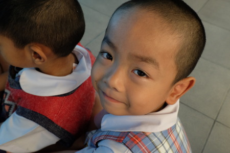 wean: BANGKOK CITY, THAILAND - JAN 2015: In the jan 9, 2015. Bangkok County Kindergarten students smiling