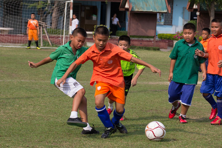 Activity of primary football competition. 10-12 year old students participated in the competition and fun.