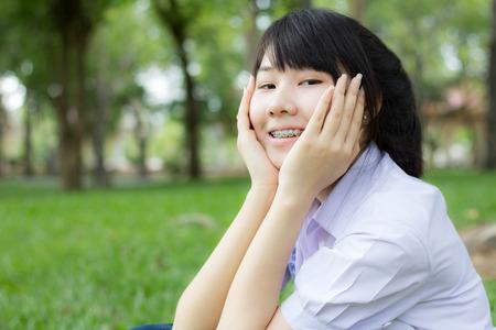 asia women thai teen relax On Park photo