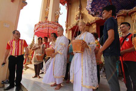 ordination: Thai Culture Buddhism Ordination Ceremony at temple, Thailand. Editorial