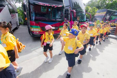festal: BANGKOK CITY, THAILAND - JULY 2016: primary Students visit the zoo, In the jul 27, 2016. Bangkok Thailand.