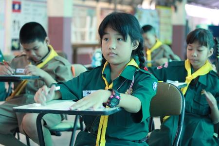 Activity of teaching Elementary students. Elementary students are Test lesson. The students intend exam. Editöryel