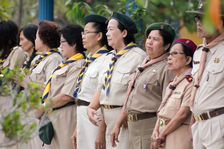 scouting: Student 11-12 years old, Scout Assembly, TeePangKorn Scout Camp in Samut Sakhon Thailand.