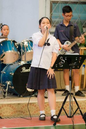 BANGKOK, Thailand - January 27, 2017: Bangkok. High school students singing happily. high school in bangkok thailand.