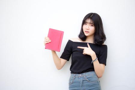 asie thaï adolescent vietnam belle fille lire un livre Banque d'images