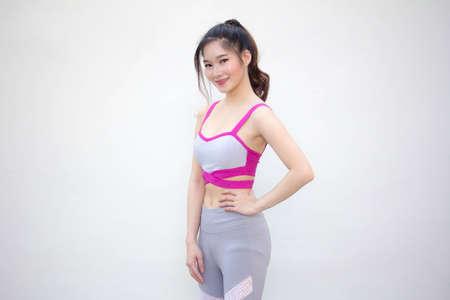 adult asia thai beautiful girl in sportswear