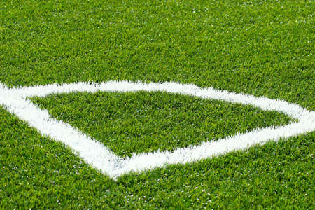 Corner on football/soccer pitch with green artificial grass