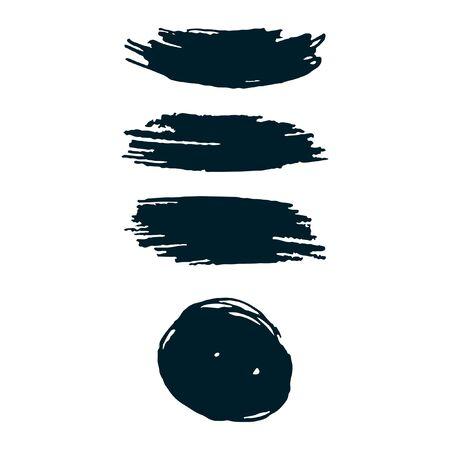 Dark blue brush strokes isolated. Ink painting. Artwork