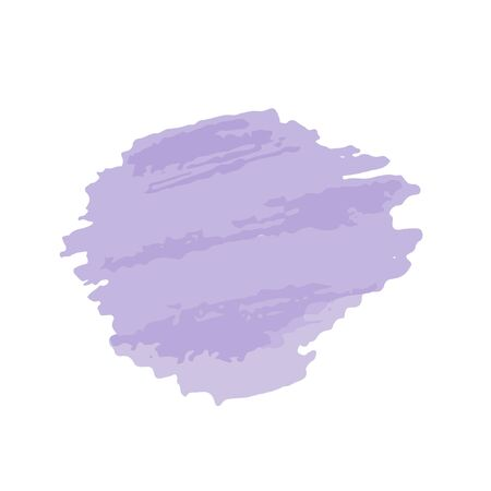 Violet brush spot isolated. Ink painting. Artwork