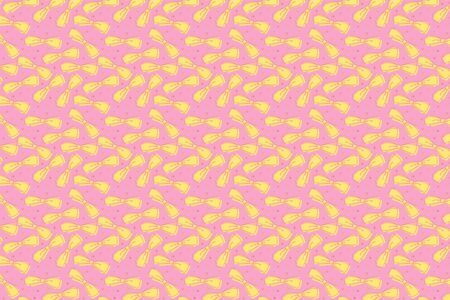 Bright bows pattern. Festive yellow pink background Banque d'images