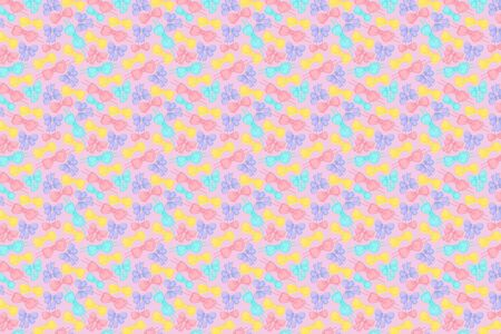 Bright bows pattern. Festive pink background