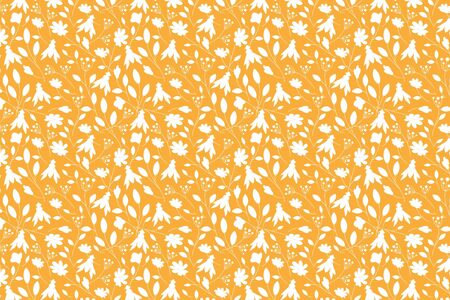 White bug and flower shape. White insects shapes pattern on an orange background. Фото со стока - 150477626