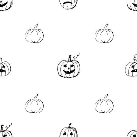 Cute Halloween background. Seamless pumpkin puttern