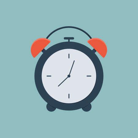 Alarm clock icon. Flat design style. Simple icon.