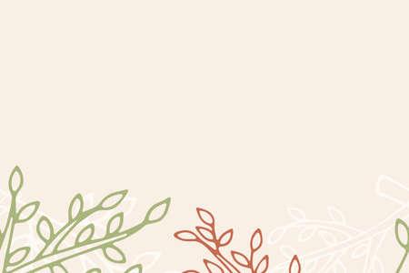 Autumn leaf pattern on baige. Leaf cute background