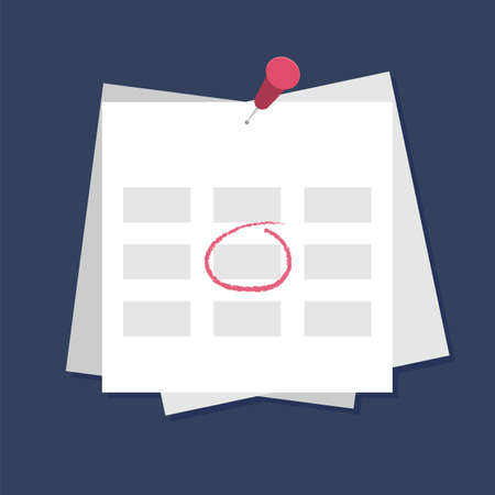 Calendar icon with mark. Planning. Time management.