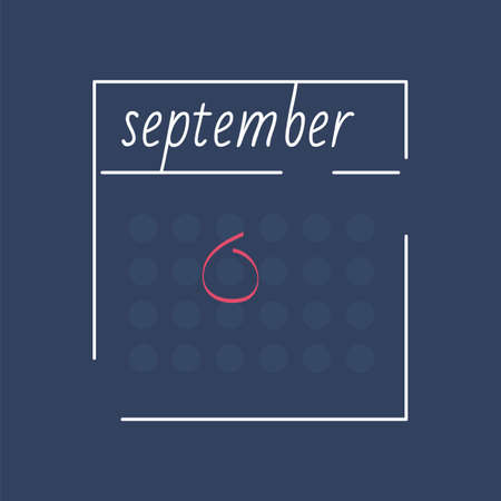 Calendar icon with pink mark. Planning. Time management.