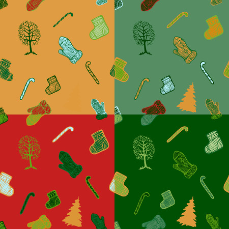 sweetness: Vector Christmas seamless pattern.