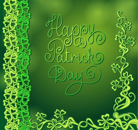 St. Patricks day vector background with shamrock. Vector